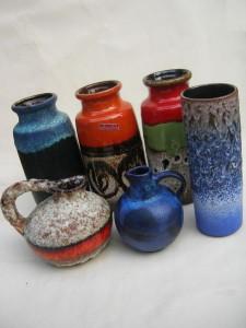 West German Fat Lava Vases for sale Scheurich Ruscha