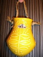 Bay 336 Wall Flower Vase Yellow 1960s