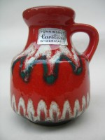 Carstens 6004-10 Red West German Ceramic Vase