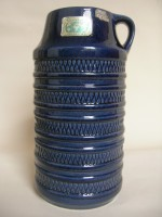 Carstens E 4 25 Blue W German Vase