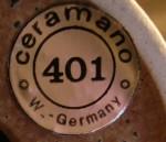 Ceramano Label - 1970s onwards