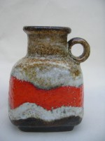 D & B 601-17 Orange West German ceramics Vase