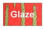 D & B Buttons - Glaze