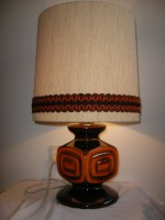 D & B - Unmarked Lamp Fat Lava Orange West German
