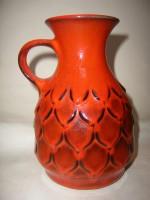 Jasba N03313-18 West German Black Orange Ceramic