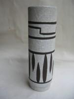 Jopeko 6-25 Fat Lava West German Vase Black White