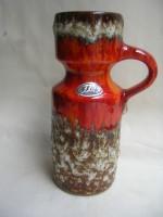 Jopeko 7205-18 Orange Fat Lava Vase West German