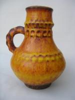 Kreutz - Unmarked Orange Fat Lava West german Vase