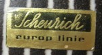 Scheurich Label - Europ Linie 1962-68 - used for lines which were exported out of Germany