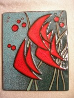 Buckeburg Fish Wall Plaque Signed by Helge Pfaff