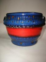 3350-1 Plant Pot West German Fat Lava Ceramic