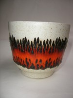 Bay Plant Pot West German Fat Lava Ceramic 1960s