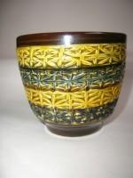 Bay Plant Pot West German Fat Lava Ceramic