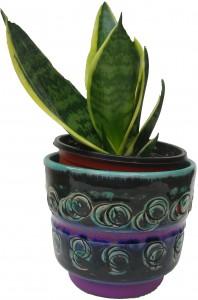 Cacti West German Plant Pot Fat Lava Spara Keramik