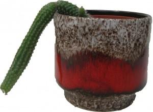Cacti West German Plant Pot Fat Lava