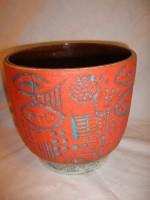 Carstens 7098-18 Plant Pot West German Pottery Fat Lava Vintage