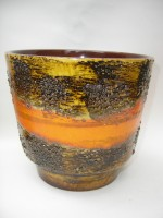 Carstens Plant Pot West German Pottery Orange
