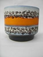 D & B 715-16 Plant Pot West German Orange Polar decor Fat Lava
