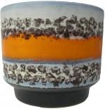 D & B 715-16 Plant Pot West German Fat Lava Orange Polar decor