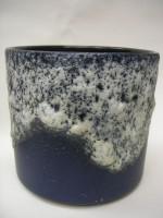 D & B 740-19 Plant Pot West German Pottery Blue