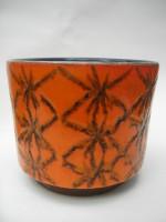 ES Plant Pot West German pottery Orange