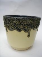 ES Plant Pot West German Pottery Black Lava