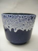 ES Plant Pot West German Blue Pottery