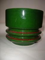 Fohr 908-16 Plant Pot West German Fat Lava Green Space Age