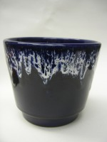 Jopeko Plant Pot West German Blue and White Pottery