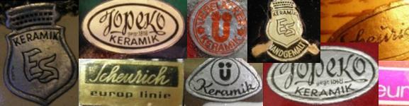 West German Plant Pot Stickers Labels Pottery Fat Lava