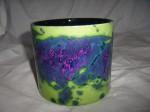 Roth 11-1 Plant Pot West German Green Purple Pottery