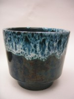 Roth 12-2 Plant Pot West German Blue/Green Pottery