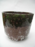 Roth 23-22 Plant Pot West German Green pottery