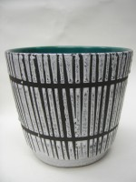Scheurich Plant Pot West Pottery Bamboo Black White