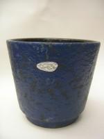 Scheurich Plant Pot West German Blue with Sticker Label Pottery