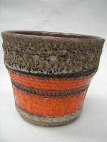 U Keramik 217-15 Plant Pot West German Pottery