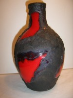 Marei 4100 Lava Decor Fat Lava Red Black Vase