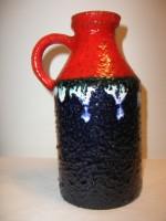 Marei 6302 Blue Red West German Vase