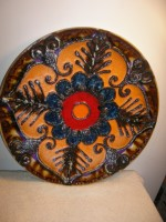 Marei - Plate Unmarked Fat Lava West German Wall Plate